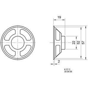 Visaton Miniature loudspeaker 5.7 cm 8 Ω 3 W