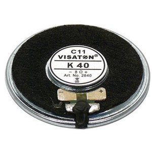 "Visaton Small speaker 4 cm (1.6"") 8 Ω 2 W"
