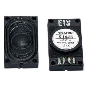 "Visaton Small loudspeaker 1.4 x 25 cm (0.5"" x 1"") 8 Ω 1.5 W"