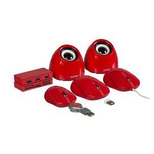 Sweex Speaker 2.0 USB 3.5 mm 6 W Rood