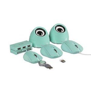 Sweex Speaker 2.0 USB 3.5 mm 6 W Groen