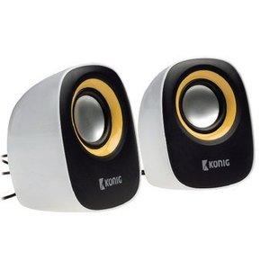 König Speaker 2.0 Bedraad 3.5 mm 4 W Geel / Zwart