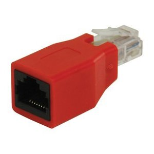 Valueline CAT6 Netwerk Adapter RJ45 (8/8) Male - RJ45 (8/8) Female Rood