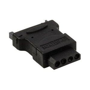 Valueline SATA Adapter SATA 15-Pins Male - Molex Female Zwart