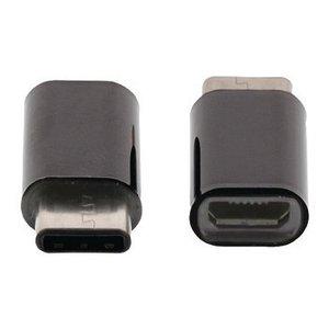 Valueline USB 2.0 Adapter USB-C Male - USB Micro-B Female Zwart