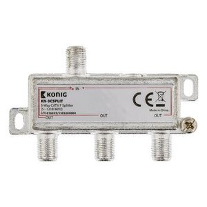 König CATV Splitter 8.5 dB / 5-1218 MHz - 3 Uitgangen
