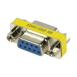 Valueline Seriële Adapter SUB-D 9-Pins Female - SUB-D 9-Pins Female Metaal