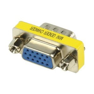Valueline VGA Adapter VGA Male - VGA Female 15-Pins Metaal
