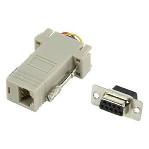 Valueline Seriële Adapter SUB-D 9-Pins Female - RJ45 (8/8) Female Ivoor
