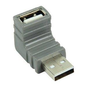 Bandridge USB 2.0 Adapter 270° Gehoekt A Male - A Female Grijs