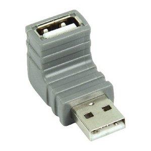 Bandridge USB 2.0 Adapter 90° Haaks A Male - A Female Grijs