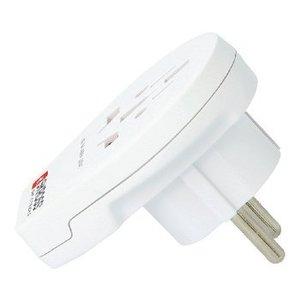 Skross Reisadapter Wereld-naar-Europa USB Geaard