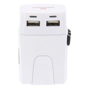 Skross Reisadapter Wereld MUV USB Ongeaard