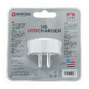 Skross Reisadapter USA USB Ongeaard