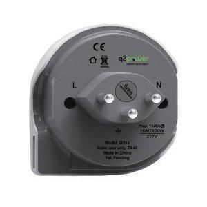 Q2 Power Reisadapter Wereld-naar-Zwitserland USB Geaard