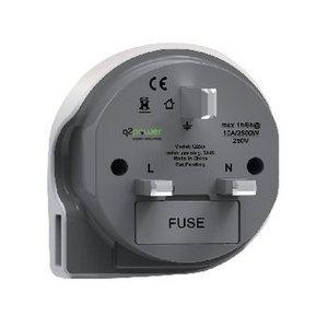 Q2 Power Reisadapter Wereld-naar-UK USB Geaard