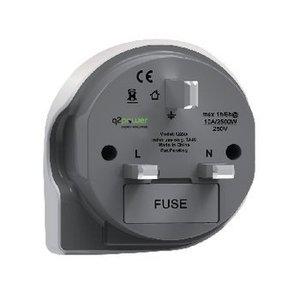 Q2 Power Reisadapter Wereld-naar-UK Geaard