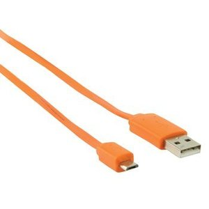 Valueline USB 2.0 Kabel A Male - Micro-B Male Plat 1.00 m Oranje