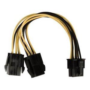 Valueline Interne Stroomkabel EPS 8-Pins Male - 2x PCI Express Female 0.15 m