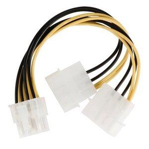 Valueline Interne Stroomkabel EPS 8-Pins Male - 2x Molex Male 0.15 m
