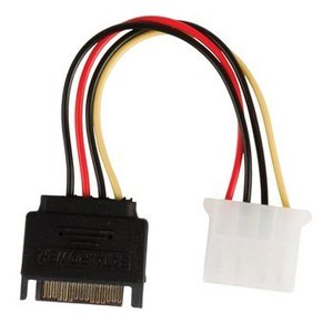 Valueline Interne Stroomkabel SATA 15-Pins Male - Molex Female 0.15 m