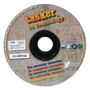 Tasker Datakabel op Haspel 4x 0.25 - 100 m Zwart
