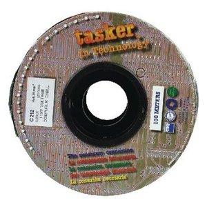 Tasker Datakabel op Haspel 4x 0.25 - 100 m Grijs