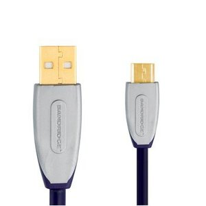 Bandridge USB 2.0 Kabel A Male - Micro-B Male 2.00 m Zwart