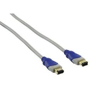 HQ FireWire 400 Kabel FireWire 6-Pins Male - FireWire 6-Pins Male 1.80 m Grijs