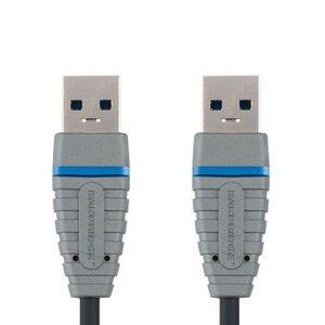 Bandridge USB 3.0 Kabel A Male - A Male Rond 3.00 m Blauw