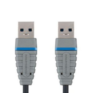 Bandridge USB 3.0 Kabel A Male - A Male Rond 2.00 m Blauw
