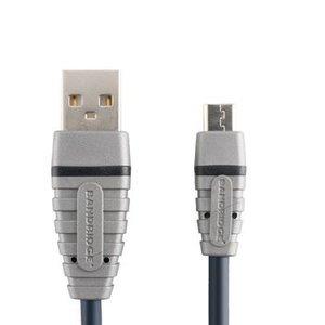Bandridge USB 2.0 Kabel A Male - Micro-B Male Rond 2.00 m Blauw