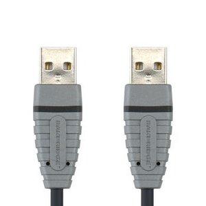 Bandridge USB 2.0 Kabel A Male - A Male 2.00 m Blauw