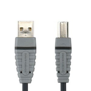 Bandridge USB 2.0 Kabel A Male - B Male Rond 3.00 m Blauw