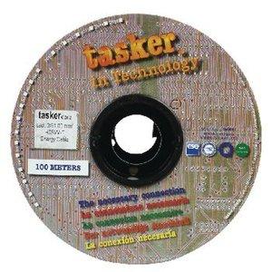 Tasker Stroomkabel 3x 1.00 mm² 100 m Zwart