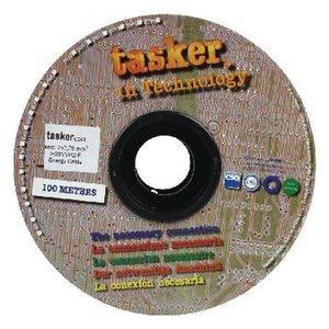 Tasker Stroomkabel 2x 0.75 mm² 100 m Wit
