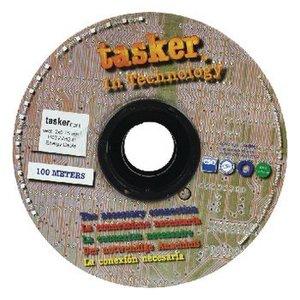 Tasker Stroomkabel 2x 0.75 mm² 100 m Zwart
