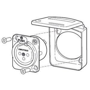 Neutrik Sealing Flap IP 42 Zwart