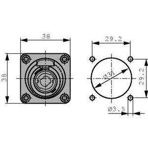 Neutrik Built-in plugs Speakon® STX Zwart 4P
