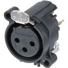 Neutrik XLR Panel-mount female receptacle 3 A Verticaal / PCB Mounting Zwart