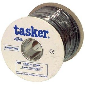 Tasker Telecomkabel op Haspel 6x 7/0.12 - 100 m Zwart