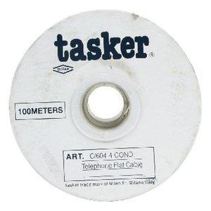 Tasker Telecomkabel op Haspel 4x 7/0.12 - 100 m Wit