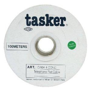 Tasker Telecomkabel op Haspel 4x 7/0.12 - 100 m Grijs