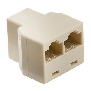 Valueline Telecom Adapter RJ45 (8/8) Female - 2x RJ45 (8P8C) Female Ivoor