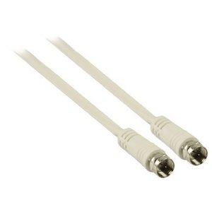 Valueline Antennekabel F-Male - F-Male 15.0 m Wit