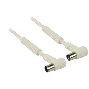 Valueline 120 dB Coaxkabel Haaks Coax Male (IEC) - Coax Female (IEC) 25.0 m Wit
