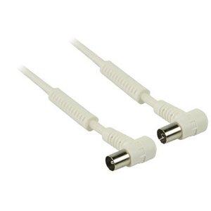 Valueline 100 dB Coaxkabel Haaks Coax Male (IEC) - Coax Female (IEC) 5.00 m Wit