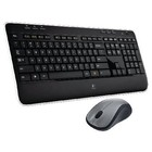 Logitech Draadloze Muis en Keyboard Multimedia US International Zwart/Zilver