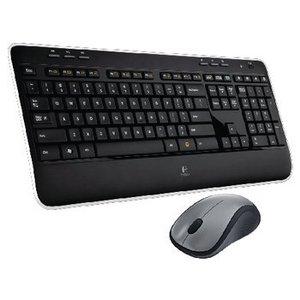 Logitech Draadloze Muis en Keyboard Multimedia US International Zwart / Zilver