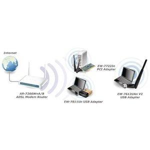 Edimax Draadloze USB-Adapter N300 2.4 GHz Zwart